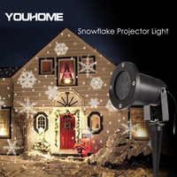 Su geçirmez led lazer projektör ışık otomatik kar tanesi çim ışığı abd/ab/İngiltere/AU tak parti dış aydınlatma bahçe Décor