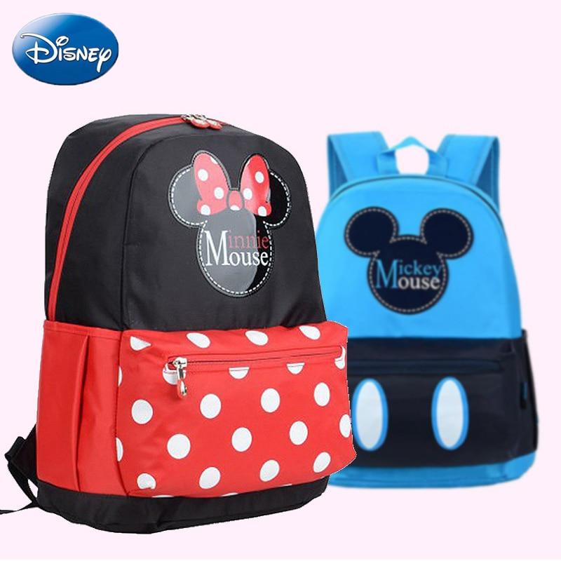Disney qualité Mickey Minnie Mouse femmes sac enfants filles dames décontracté mode Cartoon sacs filles garçon sac à dos en peluche sac à dos