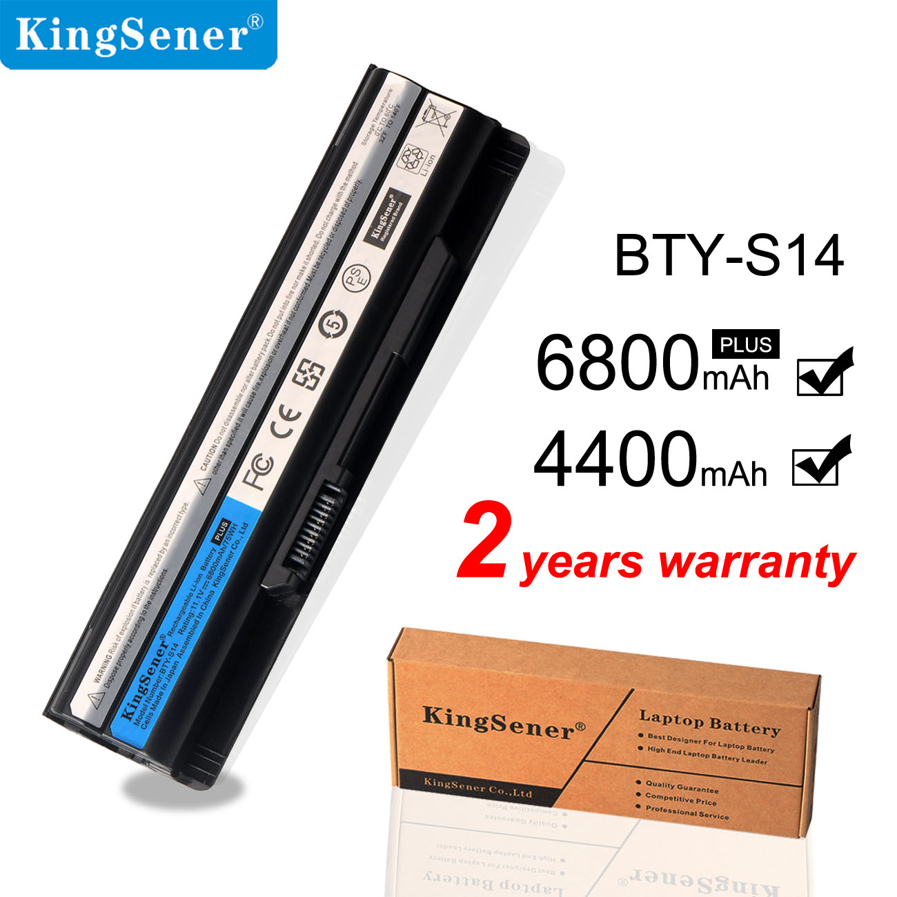 KingSener Laptop Battery For MSI BTY-S14 GE70 GE60 CR41 CX61 CR70 BTY-S15 CR650 CX650 FR400 FR600 FR610 FR620 FR700 FX420 FX600