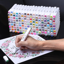 Жирных спирт маркеры 30/40/60/80/168 Цвет Набор двойной головкой маркер для рисования ручка для рисования манга анимация товары для рукоделия