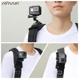 Image 5 - SOONSUN 360 Degree Rotation Adjustable Backpack Shoulder Strap Belt Mount for GoPro Hero 9 8 7 6 5 for DJI Osmo Action Accessory