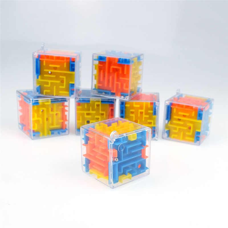 Фиджет-игрушки 3D Кубик Рубика вращающийся шар лабиринт шестисторонний лабиринт детская развивающая декомпрессионная игрушка Подарки для детей