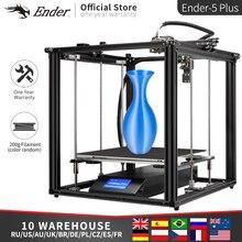 Ender 5 Plus 3D impresora de alta precisión de gran tamaño 350*350*400 impresora 3D autonivelante, doble eje Z apagado resumen Creality 3D