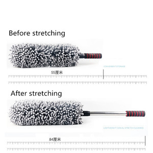Image 2 - Retractable Microfiber Car Wax Brush Multifunction Car Duster Removing Cheaner For Furniture Cleaning Tool Microfiber Car Washer
