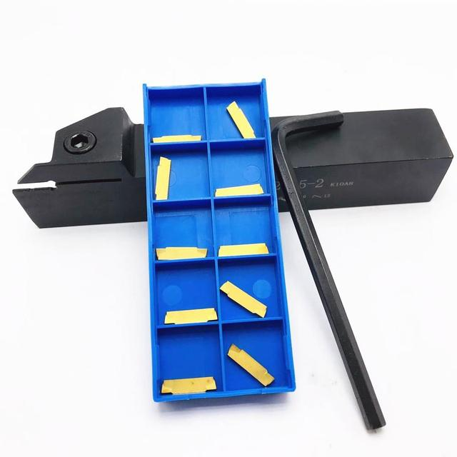 1 MGEHR2525-2 slotted tool holder + 10 MGMN200 G high quality metal machine tool accessories MGEHR 2525 milling cutter