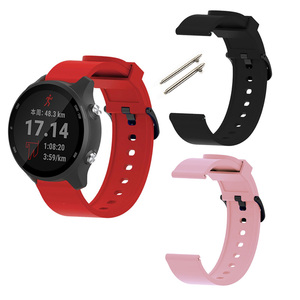 Image 2 - Silicone Strap For Garmin Veun Sq Forerunner 245M 245 645 Music Move 3 Luxe Style Venu Watchband 20mm Camouflage Bracelet