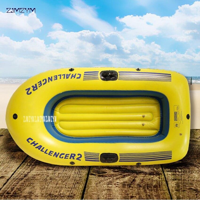 Одиночная супер-утолщенная Надувная гребная лодка для подростков, 1 человек, 140*80 см, надувная лодка для гребли с запасными частями