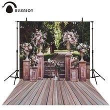 Allenjoy photophone backdrops cena do casamento primavera jardim de madeira flor árvore fotografia estúdio fundos photobooth