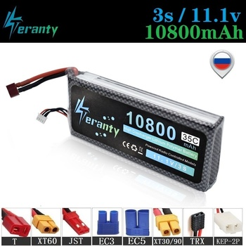 High Discharge MAX 60C 3s 11.1v 10800mAh Lipo Battery For RC Car Helicopters Boats Quadcopters Spare Parts 11.1v Lithium battery