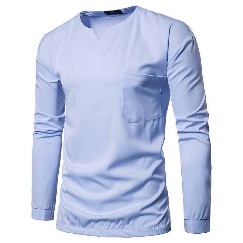 67.1 25,Men`s shirt men`s fashion high-quality new best shirt men`s solid color round neck pullover long sleeve shirt men`s casual shirt