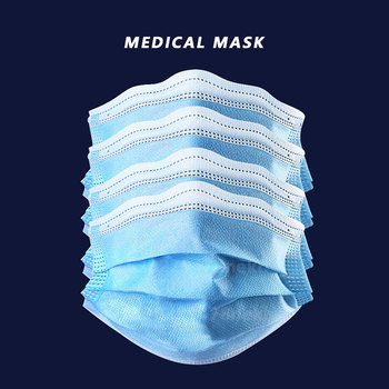 10pcs Medical Mask Disposable Surgical Masks Mascherine Antivirus FFP2 Medical Masks N95 Anti Flu Face Mask From Viruses Dust