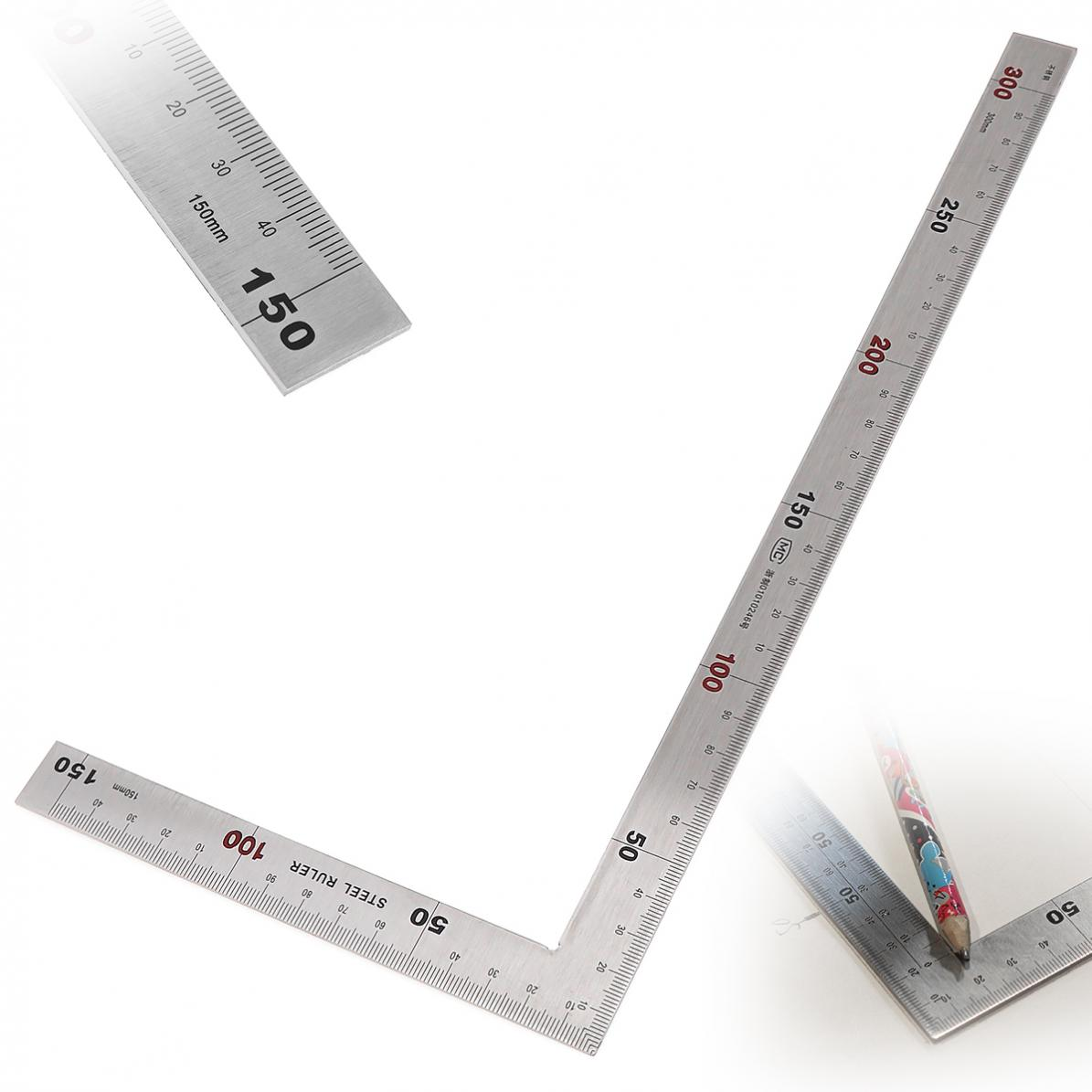 Stainless Steel Right Angle Ruler 150 X 300mm 90 Degree Angle Metric Ruler