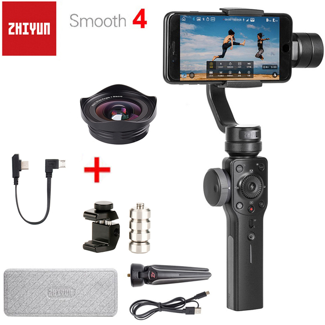 Zhiyun Smooth 4 3 Axis Handheld Smartphone Gimbal Stabilizer Counterweight for Balancing Phone Lens for iPhone 11 Pro XS XR X 8P