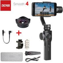 Zhiyun gładka 4 3 Axis Handheld Smartphone Gimbal stabilizator przeciwwaga do równoważenia obiektyw telefonu dla iPhone 11 Pro XS XR X 8P