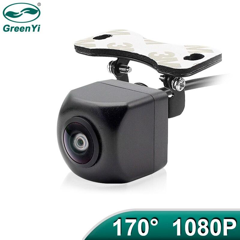 Fisheye-Lens Rear-View-Camera Car-Reverse Greenyi Universal Night-Vision Waterproof Ahd 1080p
