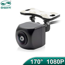 Greenyi 170 ° ahd 1080p veículo câmera de visão traseira do carro reverso preto fisheye lente visão noturna universal à prova dwaterproof água
