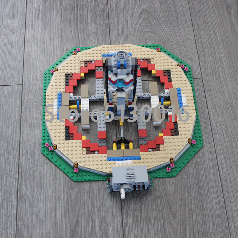 En Stock rue voir le nouveau carrousel 2705 pièces ensemble enfants blocs de construction briques garçon jouets modèle Legoed 10257 15036 - 3