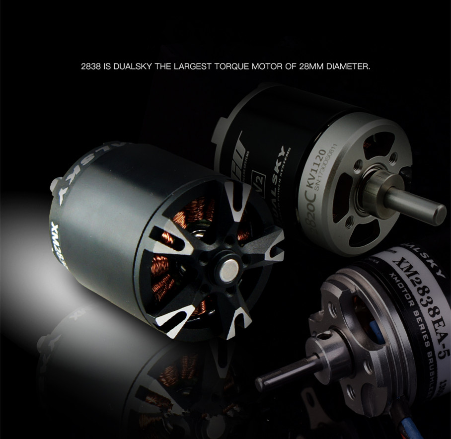 motor sem escova 860kv 1100kv 1350kv 1800kv de dualsky xm2838eg para planadores do ep