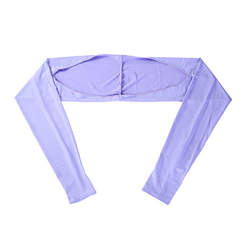 Women Summer Anti-UV Cooling Shawl Arm Sleeves Golfing Riding Sun Protector Wrap Outdoor Ice Silk Sun Protector Gloves 9 Colors