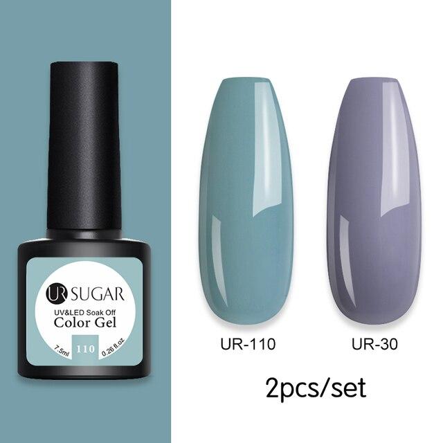 UR SUGAR 7.5ml UV Gel Varnish Nail Polish Set For Manicure Nails Art Semi Permanent Painting UV Led Gel Polish Nail Lacquer