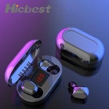 Mini TWS bezprzewodowe słuchawki sportowe słuchawki hi fi słuchawki z redukcją szumów bezprzewodowy zestaw słuchawkowy wodoodporne słuchawki