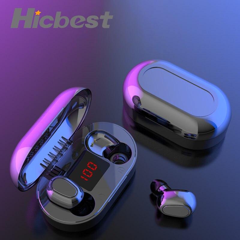 Tüketici Elektroniği'ten Bluetooth Kulaklık & Kulaklıklar'de Mini TWS kablosuz kulaklık spor HIFI kulaklık gürültü iptal kulakiçi kablosuz kulaklık su geçirmez kulaklık title=