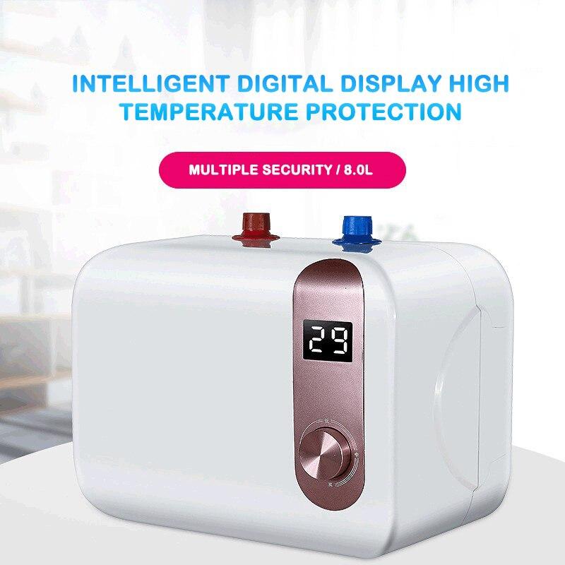 New Kitchen Machinery Digital Display Kitchen Po 8L Household Kitchen Po Water Storage Kitchen Po Electric Speed Water Heater