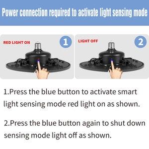 Image 5 - UFO LED Bulb 60W 80W 100W 120W E27 LED Lamp E26 LED Light 220V Deformable Lamp Garage Light 110V Waterproof Warehouse Lighting