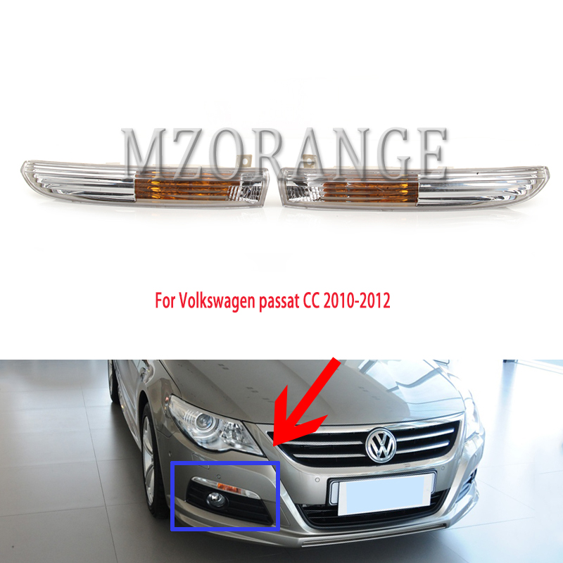 For Volkswagen Passat CC 2010-2012 Fog Lights With No Bulbs Fog Lamps Fog Light Fog Lamp Foglights Front Corner Signal Light