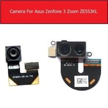Voor & Achter Hoofd Camera Voor Asus Zenfone 3 Zoom ZE553KL Terug Grote Samll Camera Met Flex Kabel Vervangende Onderdelen