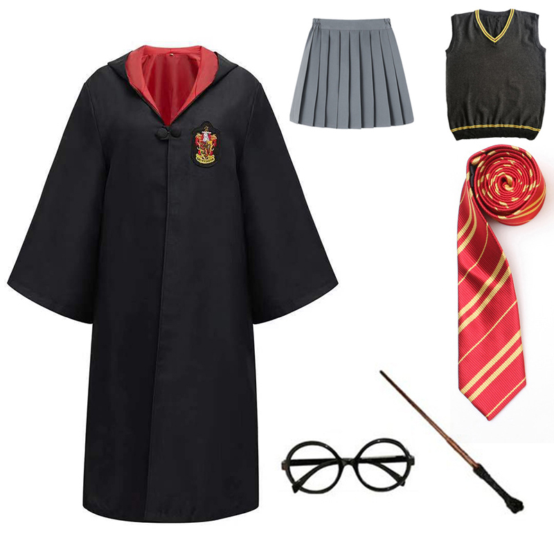 Adult Kids Cloak Cosplay Potter Costumes Shirt Magic Kids Adult Robe Potter Costume Hermione School Uniform Gifts Halloween|Movie & TV costumes|   - AliExpress