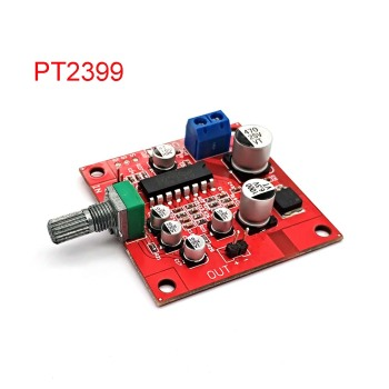 PT2399 Microphone Reverb Plate Reverberation Board No Preamplifier DC 6-15V Removable R27 Resistor Module DIYKIt - discount item  15% OFF Games & Accessories