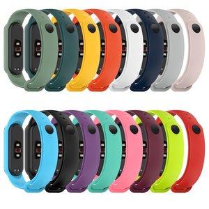 Silicone Wristband Bracelet Strap For Xiaomi Mi Band 5 Band5 Replacement Tpu Silicone Strap For Xiomi