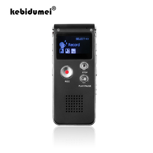 Image 1 - Kebidumei mini gravador de voz, 8gb, mini usb, flash, gravador de voz digital, 650hr, dictaphone, mp3 player
