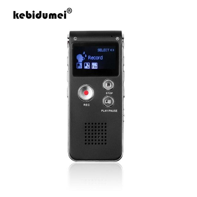 Kebidumei mini gravador de voz, 8gb, mini usb, flash, gravador de voz digital, 650hr, dictaphone, mp3 player