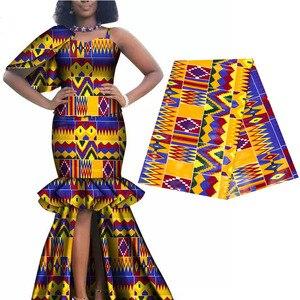 Image 3 - 2020 רויאל שעווה בטיק הדפסי אפריקה בד השמפניה 100% כותנה אנקרה קנט אמיתי שעווה Tissu האיכות הטובה ביותר עבור מפלגה שמלה handmake