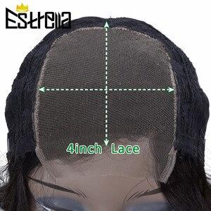 """Image 5 - 페루 바디 웨이브 레이스 인간의 머리가 발 레미 4x4 클로저가 발 8 """" 24"""" 자연 색상 레이스 클로저 인간의 머리가 발 150% 밀도"""