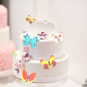 40 Piece/Set Cake Cupcake Topper Edible Glutinous Wafer Rice Paper Butterfly Cake Decoration Birthday Wedding Decor Cake Tools