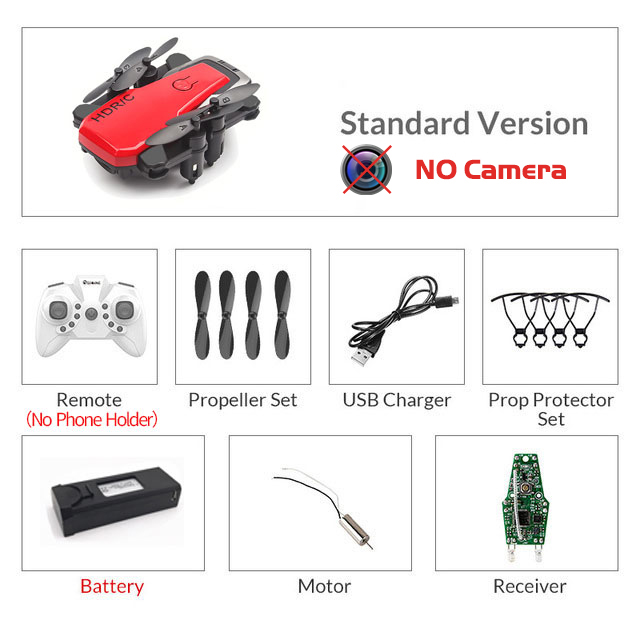 Mini Foldable Drone Camera RC Quadrocopter With HD Camera Quad-Counter With High Hold RC Helicopter VS E61 HS210 LF606 S9HW
