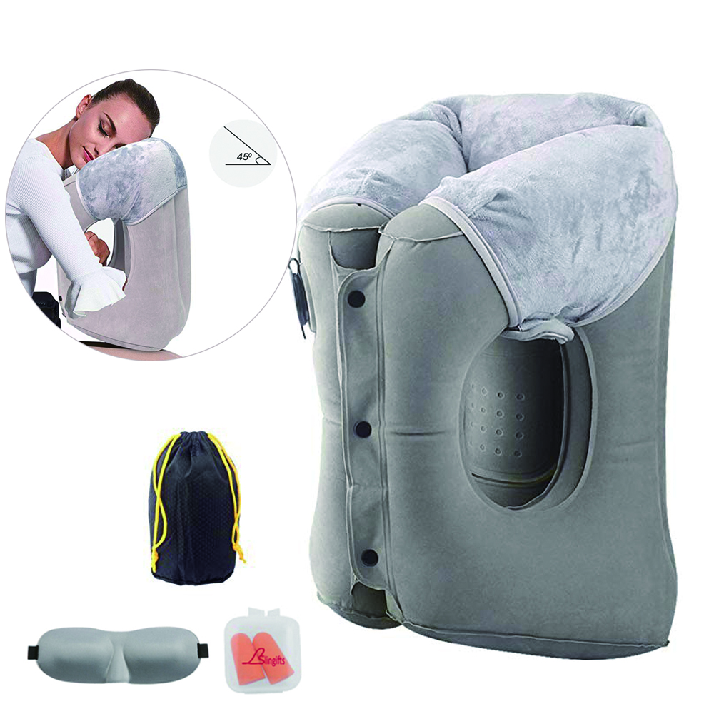 Slingifts New Inflatable Travel Neck Pillow Multi-Function Airplane Pillow Neck and Lumbar Support for Adults/Kids Free Ship image