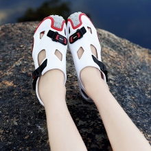 Summer couple personality sandals beach shoes hole flat sport men hiking women
