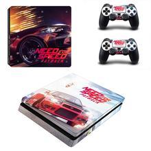 Ihtiyaç duyulan PS4 Slim Sticker PlayStation 4 cilt Sticker çıkartmaları PlayStation 4 için PS4 Slim konsolu ve denetleyici cilt vinil