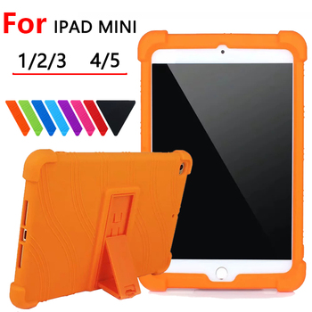 Silicon Cover Case For Apple Ipad Mini 4 5 7.9 inch Tablet Pc Protective Case For Apple Ipad Mini 1 2 3  Shockproof Soft Cover case cowhide sleeve for ipad air 2 tablet pc protective smart cover protector genuine leather for apple ipad6 cases 9 7 inch