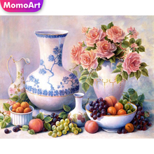 MomoArt 5D Flowers Diamond Painting Fruit Full Drill Square Diamond Embroidery Cross Stitch Home Decoration Gift momoart 5d full drill square diamond painting flowers diy diamond embroidery daisy cross stitch home decoration gift