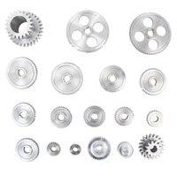 18 pçs/pçs/set cj0618 engrenagens de metal mini torno engrenagem de corte de metal máquina ferramenta engrenagem