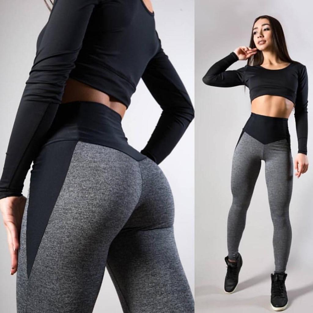 2019 Women   Leggings   Sexy Pants Push Up Fitness Gym Leggins Running Mesh Leggins Seamless Workout Pants Femme High Waist Mujer &C