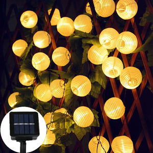 LED Solar Garden Light Lantern String Lights Outdoor Waterproof Terrace Courtyard Party Solar Outdoor Light Garland Lantern Lamp(China)