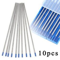 10 sztuk/zestaw elektrody 2% Lanthanated WL20 niebieski spawanie tig elektroda wolframowa 2.4*150mm narzędzie akcesoria części na