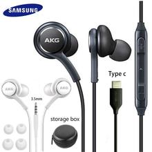 Samsung AKG EO IG955หูฟัง3.5มม./ประเภทCหูฟังไมโครโฟนชุดหูฟังสำหรับGalaxy S20 Note10 s10 S9 S8 S7 S6 Huawei Smartphone