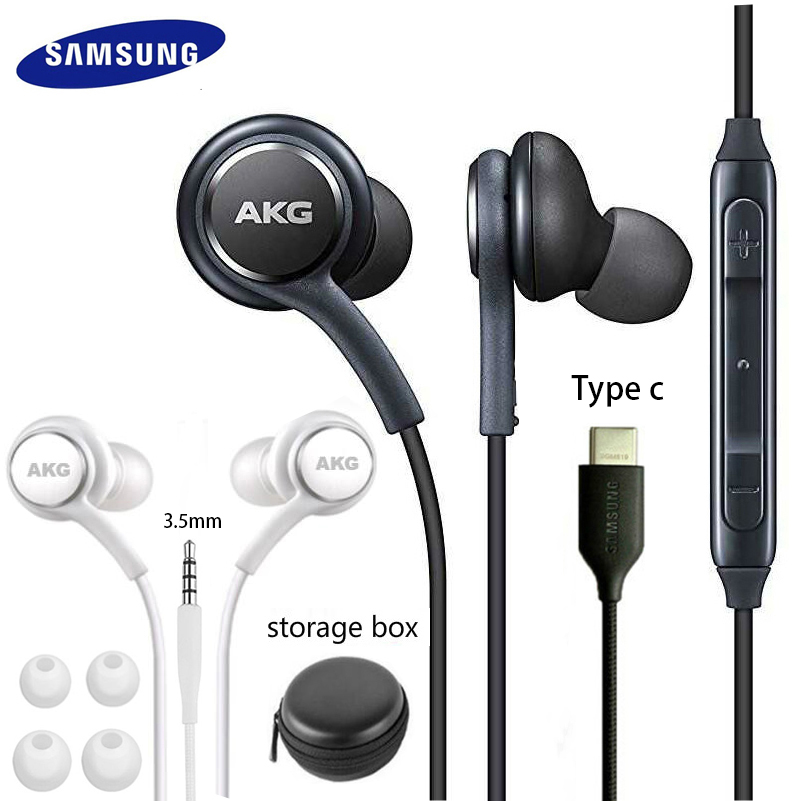 Наушники-вкладыши Samsung AKG EO IG955, 3,5 мм/Type c, проводная гарнитура с микрофоном для смартфонов Galaxy S20, note10, S10, S9, S8, S7, S6, huawei